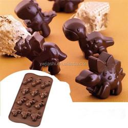 High quality 3D Dinosaur shape cnady molds cookie tools /chocolate dinosaur mold