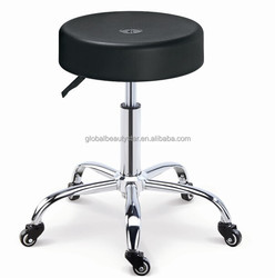Salon black chair,hairdressing salon cutting stools & chairs with chrome base
