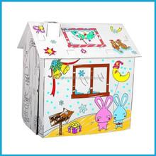 High quality DIY kids cardboard house
