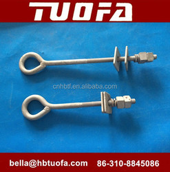 hot dip galvanized welded eyebolt with nuts and washers M16