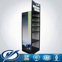 Top Quality metal Custom Made car accessories display stand rack of Showcase