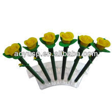Flower shaped Popular style polymer clay gifs and promotional flower pen,to be first rank in crossbow line.