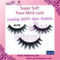GENIE Wholesale Natural Handmade Supper Soft Faux Mink Lashes