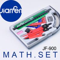 10PC Math Set Plastic Compass