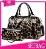 2015 new arrival elegant 2pc leopard print purse and handbags whole leather high qualty cheap fashion latest set bag in China