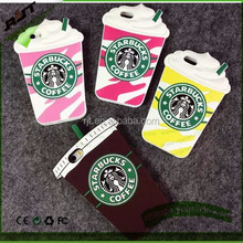 3D starbuck coffee cup model pattern soft silicon back cover colorful phone case for iPhone 6 4.7 INCH