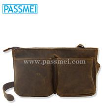 Wholesale Men's Real Leather Waist Bag,Custom Vintage Handmade Leather Waist Pack for Men