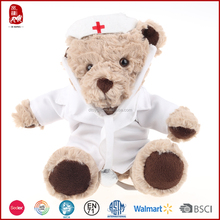 2015 new WCA and BSCI high quality plush nurse bear toy as gift