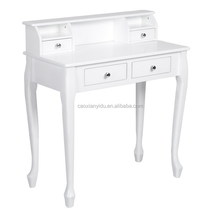 Dressing Table With Stool & Round Mirror Black Vintage Style Dressing Furniture/Dresser
