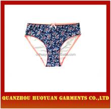 last design women briefs women underwear model flower printed knitting ladies panties