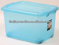 45L buckle-up handles plastic storage box fish with handle and lid