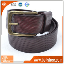 Dark coffee embossed mens leather belts belt