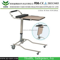 CARE adjustable bed table with wheels