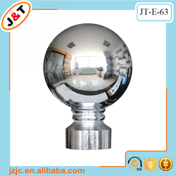hot sales in Europe extendable double metal curtain rod with round ball finials