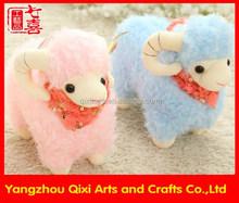 Good quality lovely plush lamb pink and blue stuffed toy lamb