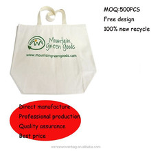 recyclable shopper organic cotton bag