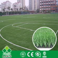 Green good drainage artificial grass for football pitch