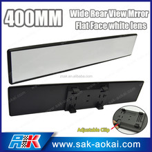 Universal 400mm Wide View Flat Car Truck Clip On Car Interior Mirror