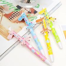 Japan and South Korea stationery Han edition fancy pen body Lovely giraffe ball pen