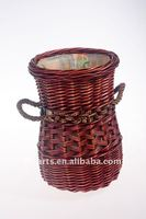 red willow wicker laundry basket with handle