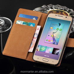 For Samsung S6 case, PU Leather wallet design for S6 case, Business style for Samsung S6 case