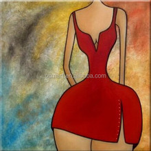 Talented Artists Creative Design Handmade Fat Gril Hot Wall Art Oil Painting On Canvas for Club Decoration