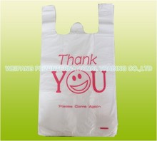 thank you t shirt plastic shoping bag