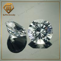 corundum 9mm round shape white sapphire gemstone