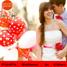 "12"" industrial rubber dot balloon colors wedding decoration"