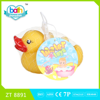 2015 New Item!PVC funny rubber duck+4 small duck baby bath learning toy