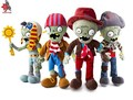 Plants vs Zombies peluches, vaquero Zombies juguetes ra zombie juguetes