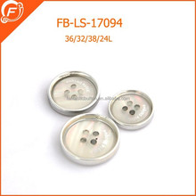 fancy four holes polyester imitation shell buttons for garment