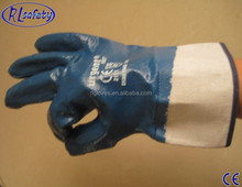 RL safety Nitrile Glove/General Purpose Gloves/Micro Foam Nitrile Coated Glove with Nitrile Dots on palm