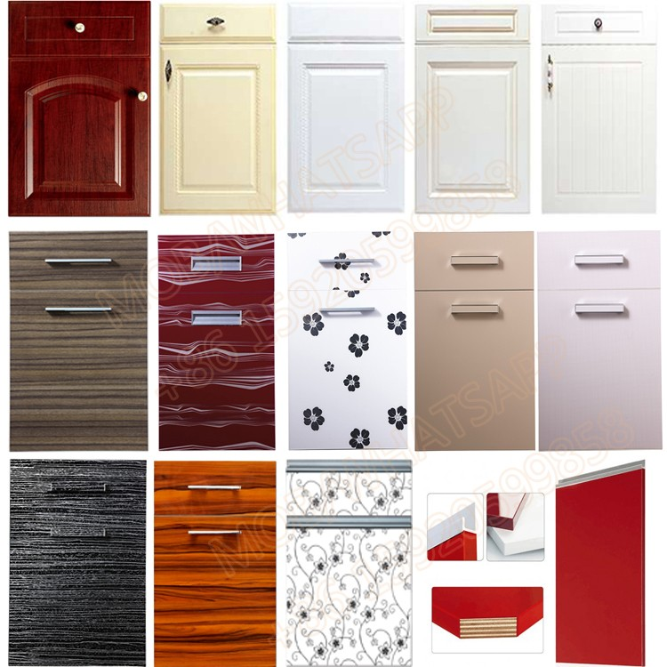 factory price melamine mdf acrylic uv pvc kitchen cabinet door