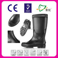 custom Rain boots made in China for men clear safety pvc rain boots