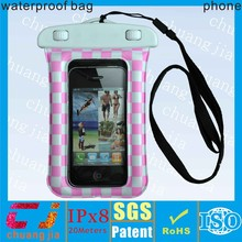 Waterproof fancy cell phone bag for iphone 5