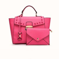 Mini natural Italian leather fashion handbag of women