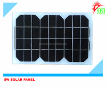 Glass laminated 9V Monocrystalline solar panel 5 watt