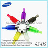 electronic cigarette clearomizer gs h5 with printing tick mark and big capacity 3.0ml