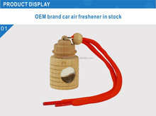 2015 perfume bottle Wooden Stopper Hanging Car air freshener Perfume Diffuser Auto Air Freshener