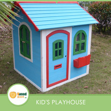 New design wooden blue cubby house