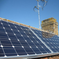Rooftop Photovoltaic panels for home heating system