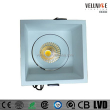 Rotatable Pan and Tilt Tiltable Square Down Light Commercial Lighting 105mm cut out R3B0216