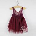 Varejo um pcs! 2014 estilista fs fanshoubaby crianças roupas de verão meninas floral crochet do laço bonito vestido 6504