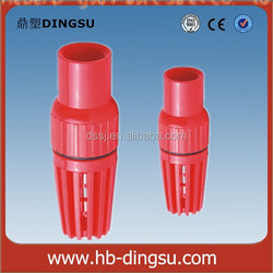 Competitive price plumbing materials Pvc Foot Valve/connected with Water Pump Plastic PVC Foot Valve