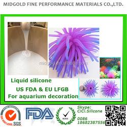 food grade liquid silicone for fish tank aquarium silicone decoration