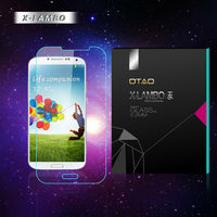 Japan Asahi Glass with AB glue silicone film 9H Anti-shock color screen protector for samsung galaxy s3