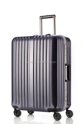 Decent Al luggage and shinny ABS+PC aluminum frame colourful trolley luggage