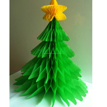 """Festive Classic paper Christmas Tree Party 6"""" Honeycomb Table Decorations"""
