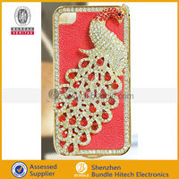 Bling Crystal Diamond Peacock Hard Case Cover For iPhone 4'/4S